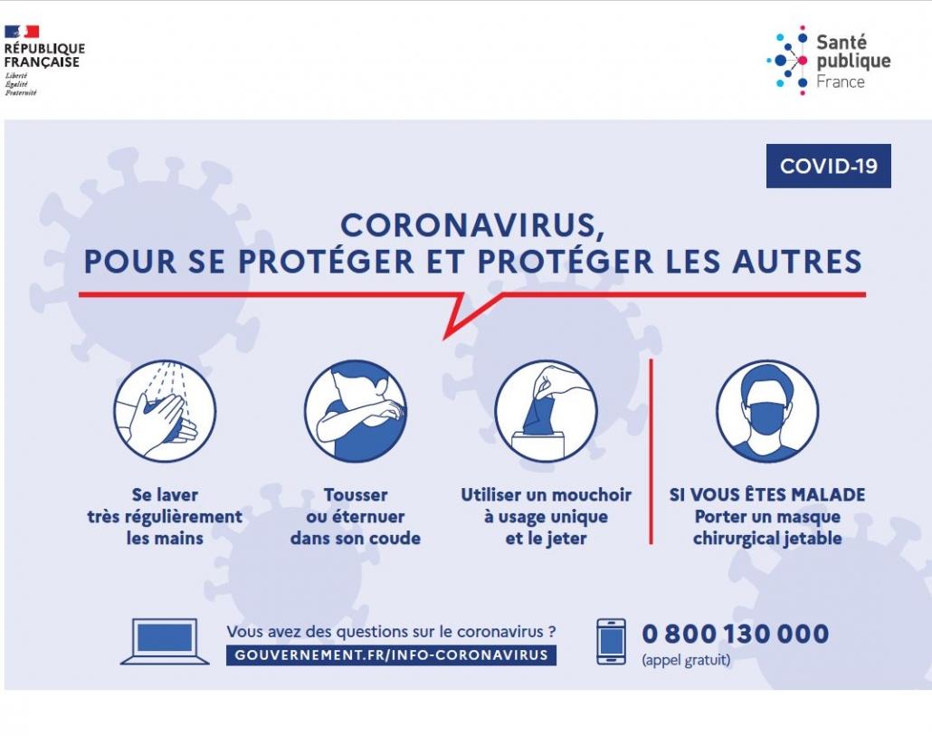 Coronavirus : Comment se protéger et protéger les autres ?