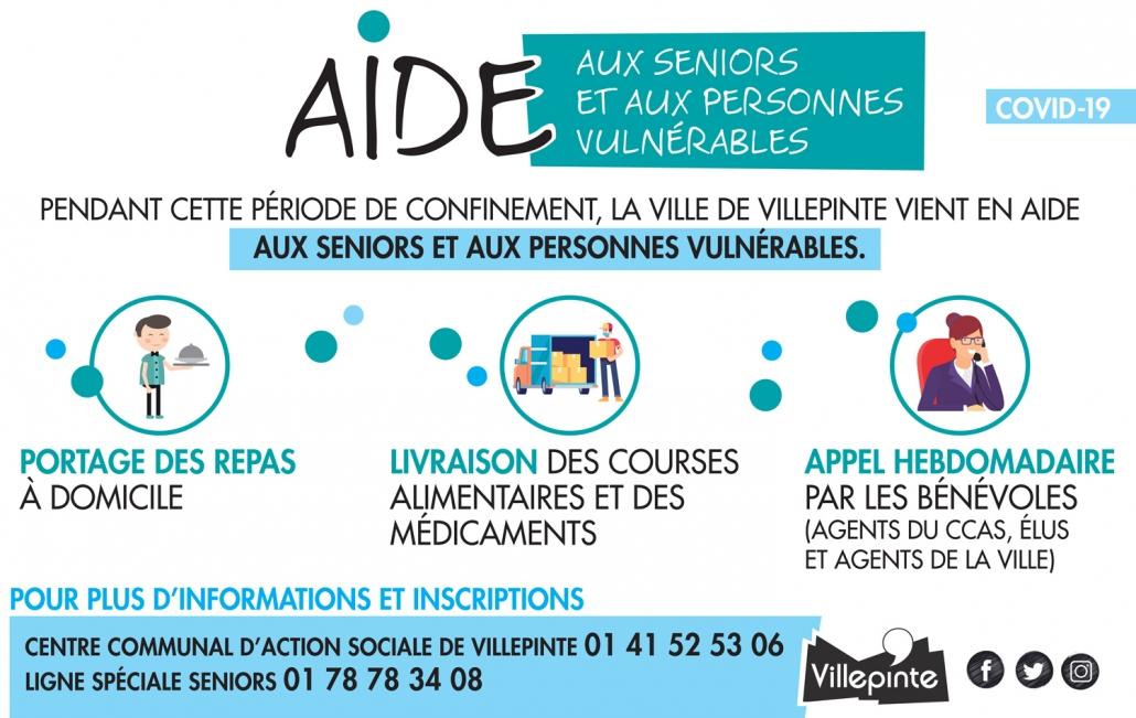 Aide aux seniors et personnes vulnérables durant l'épidémie de Coronavirus Covid-19