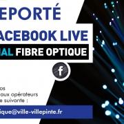 Facebook live reporté le 12 juin!