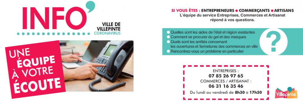 Aide aux entrepreneurs, artisans et commerçants de Villepinte