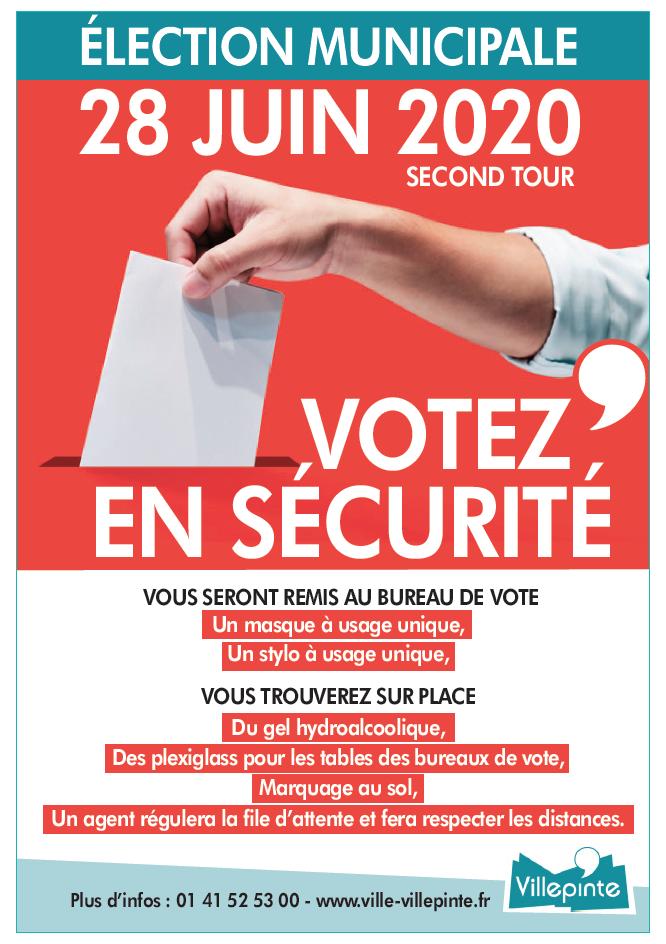 Dispositions pour voter en toute sécurité le 28 juin à Villepinte (93)