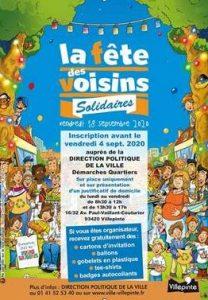Fête des voisins à Villepinte le 18 septembre 2020