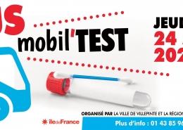 La ville de Villepinte, en lien avec la Région Ile De France organise une opération de dépistage gratuit #COVID19 sans rendez-vous jeudi 24 septembre sur le Parvis des Espaces V Roger-Lefort