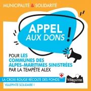 Appel aux dons pour les communes des Alpes-Maritimes sinistrées par la tempête Alex