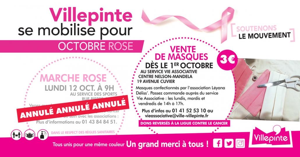 Villepinte se mobilise pour Octobre Rose