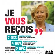 Martine Valleton, Maire de Villepinte, reçoit dans les différents quartiers pour ses permanences quartier