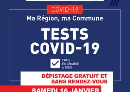 test covid-19 samedi 16 janvier à Villepinte (93)