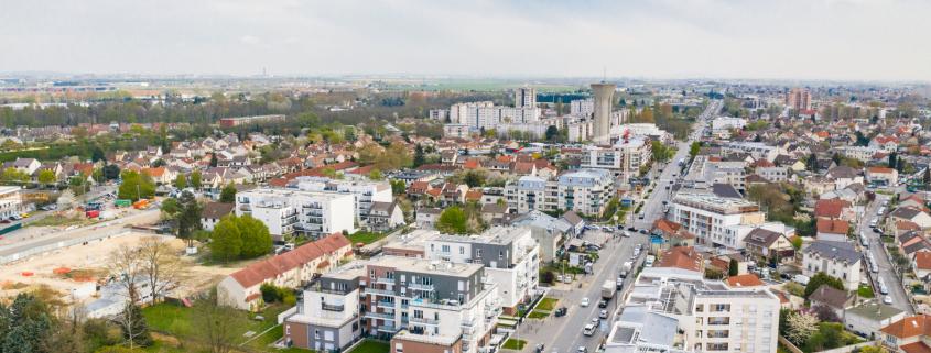 Photo aérienne du Boulevard Ballager à Villepinte (93)