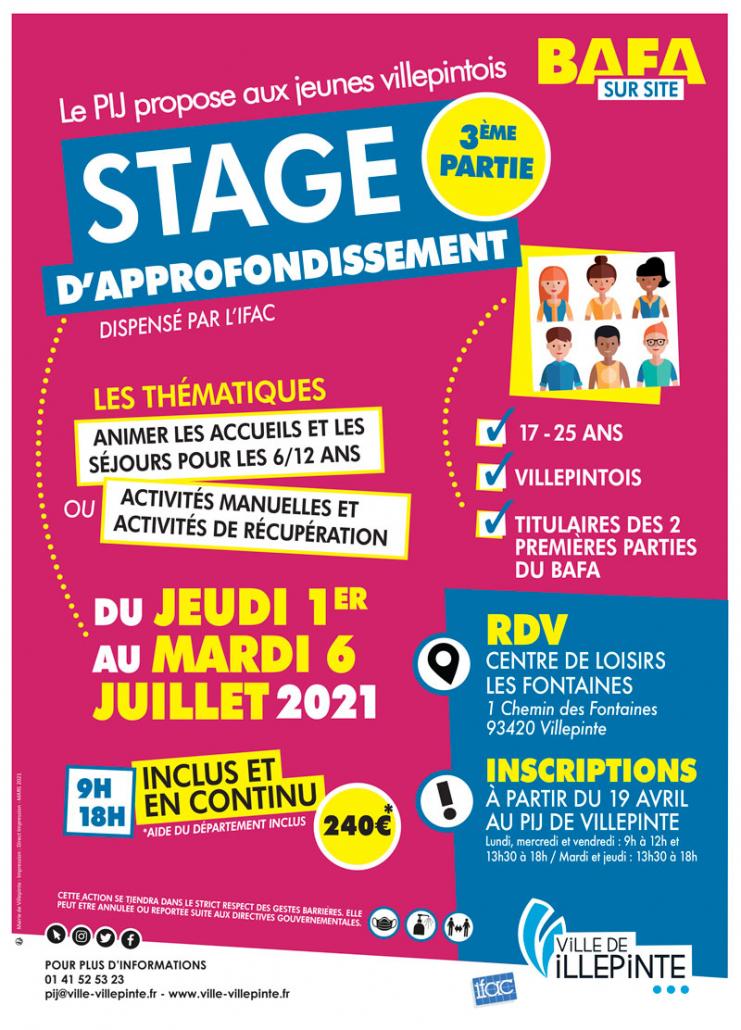 Stage BAFA sur site au PIJ en juillet 2020 - inscriptions à partir du 19 avril 2020