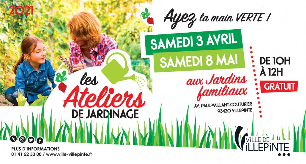 Ateliers de jardinage samedi 3 avril et samedi 8 mai 2021