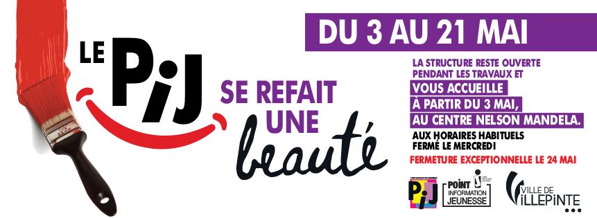 Travaux au PIJ de Villepinte du 3 au 21 mai 2021