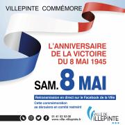 Commémoration du 8 mai 1945 à Villepinte (93)