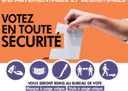 Elections du 20 et 27 juin 2021 : votez en toute sécurité