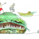 """Expo """"Monstres"""" d'Odilon Thorel à Villepinte du 8 au 26 mars 2021 @DR"""