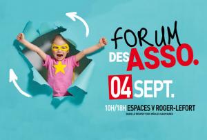 Forum des associations, samedi 4 septembre de 10 à 18 heures à Villepinte (93)