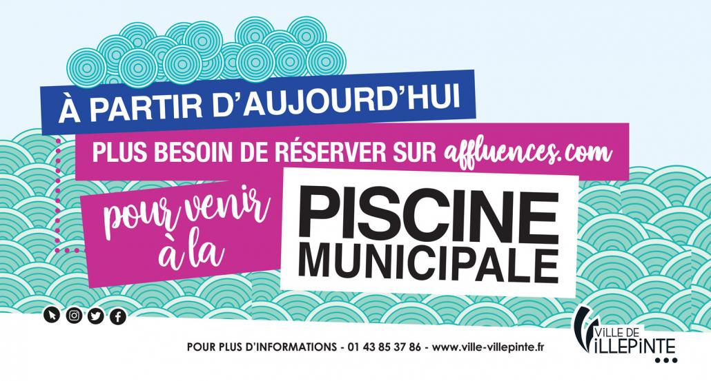 Il n' y a plus besoin de réservation pour se rendre à la piscine municipale de Villepinte (93)